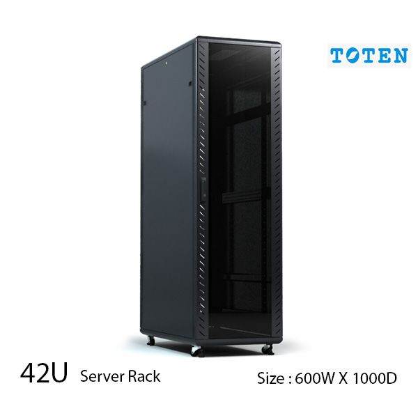 TOTEN 42U Server Rack Cabinet 600 x 1000mm Glass Door