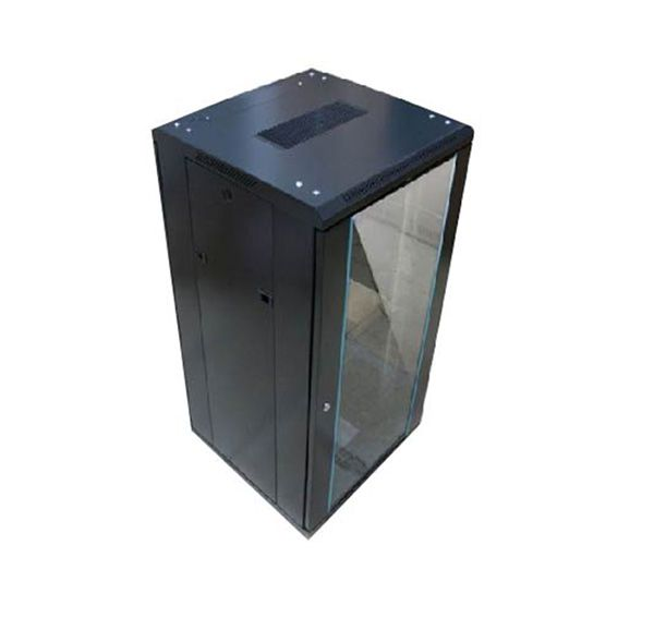 TOTEN 22U Server Cabinet (Floor Stand) In Bangladesh TOTEN GS.6822.9801 22U floor stand server cabinet has 600 x 800 mm depth, front glass door and back vented door with spring lock, 1 x 2 cooling fan, 1 x fixed shelf, 1 x 6 way PDU, 4 heavy duty wheel, included necessary screw and wrench.