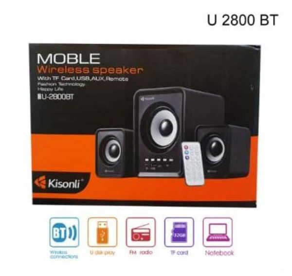 KINSOLI U-2800BT Multimedia Bluetooth Speaker