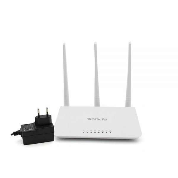 Tenda F3 300Mbps Wireless Router with 3 External Antennas - White