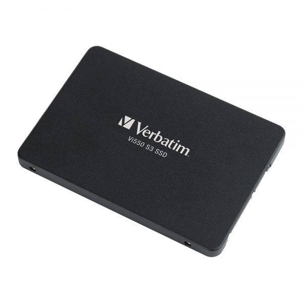 "Verbatim 49350 128GB Vi550 SATA III 2.5"" Internal SSD 49350 angled min"