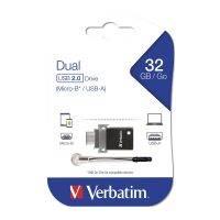 Verbatim 49843 32GB Micro USB 2.0 Dual OTG Flash Drive