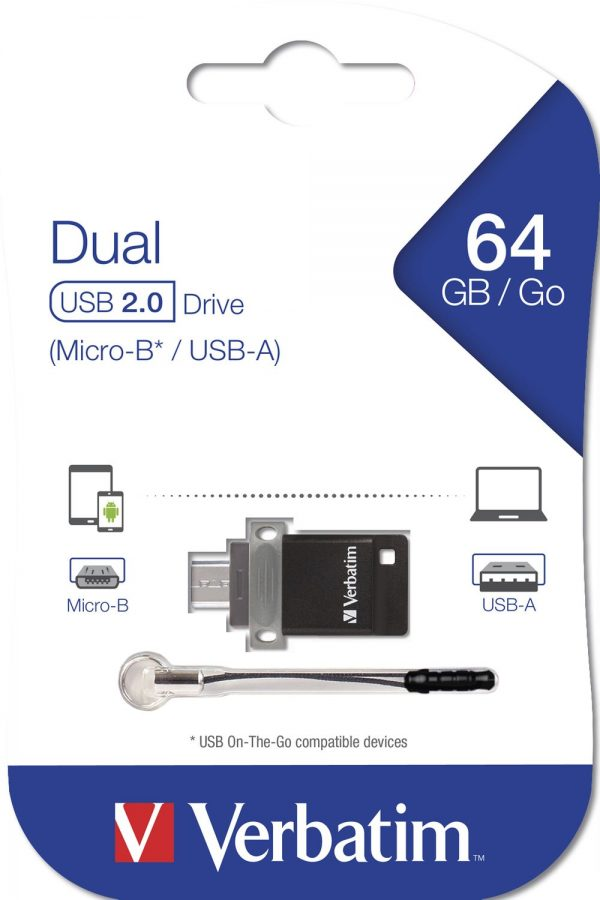 Verbatim Store'n'Go OTG 64GB 49844 packaging flat min