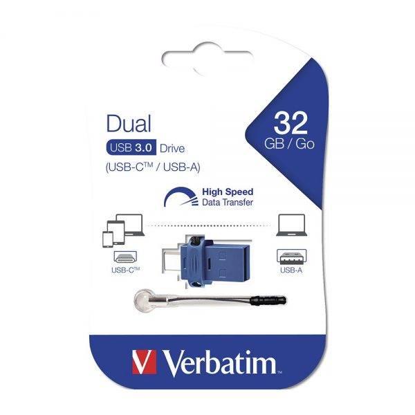 Verbatim 49966 Type C USB 3.0 OTG 32GB 49966 packaging flat min