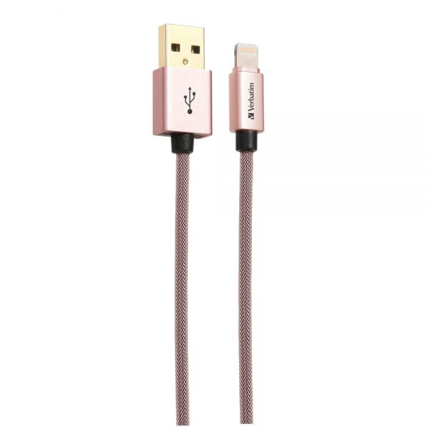 Verbatim 64991 Sync and Charge Lightning Cable 120cm Rose Gold 64991 b min