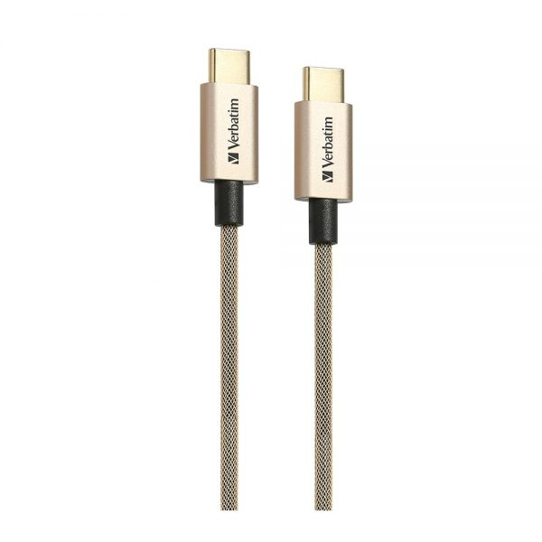 Verbatim 65056 200cm Sync & Charge USB-C™ to USB-C™ Cable Gold 65056 b 1 min