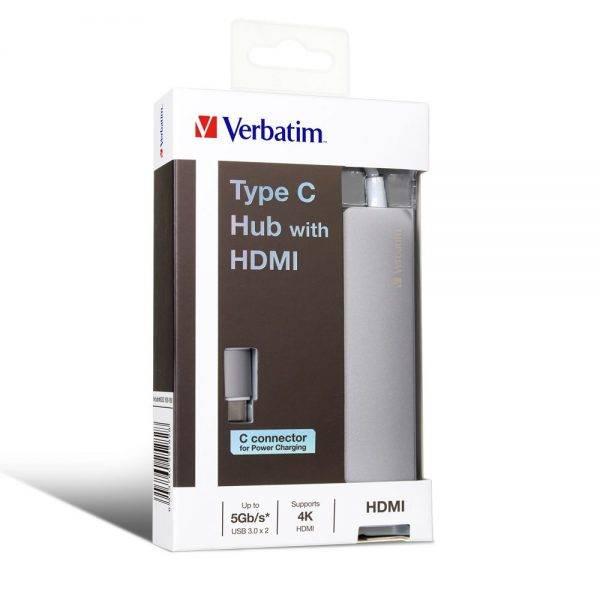 Verbatim 65282 Type C Hub with HDMI 65282 min