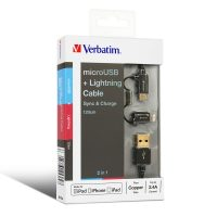 Verbatim 2 in 1 Micro USB and Lightning Cable