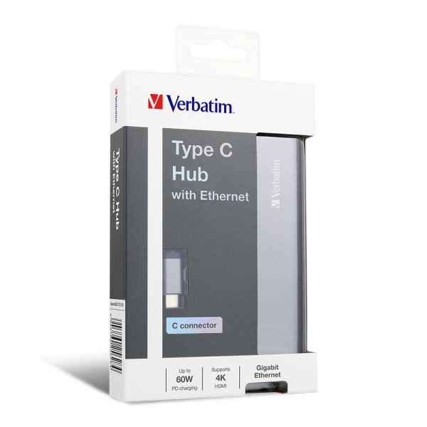 Verbatim 65628 Type C Hub with Ethernet 65628 min