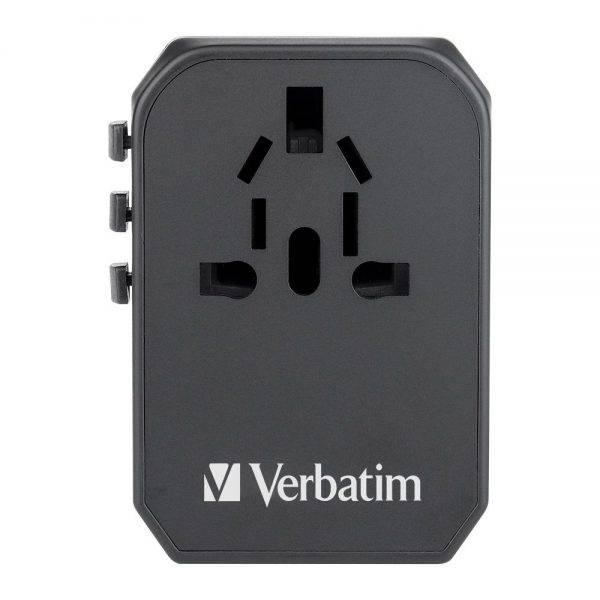 Vrebatim 65686 5 Ports Travel Adapter - Black 65686 c min