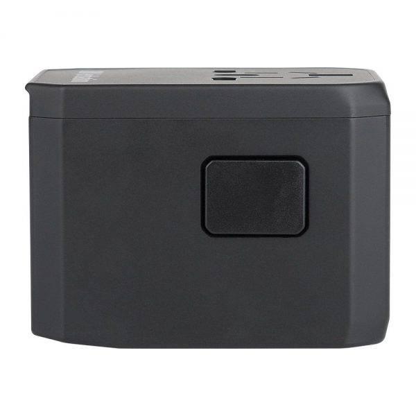 Vrebatim 65686 5 Ports Travel Adapter - Black 65686 d min