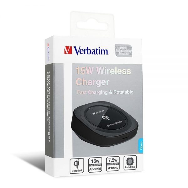 Verbatim 65720 15W Wireless Charger Fast charging & Rotatable 65720 min