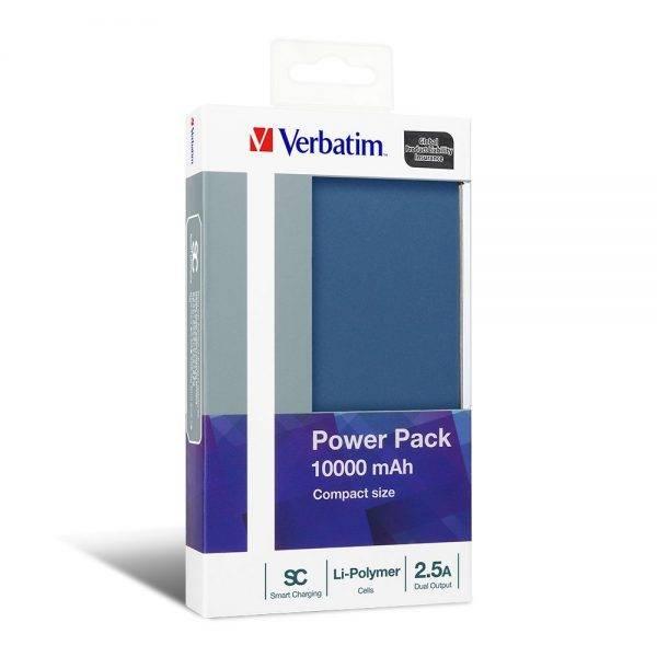 Verbatim 65841 10000mAh Li-polymer Power Pack Dual Output 2.5A Blue 65841 min