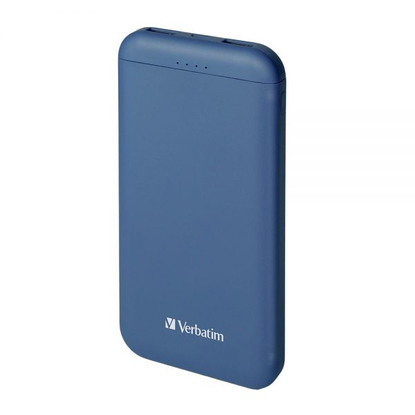 Verbatim 65841 10000mAh Li-polymer Power Pack Dual Output 2.5A Blue 65841 a min