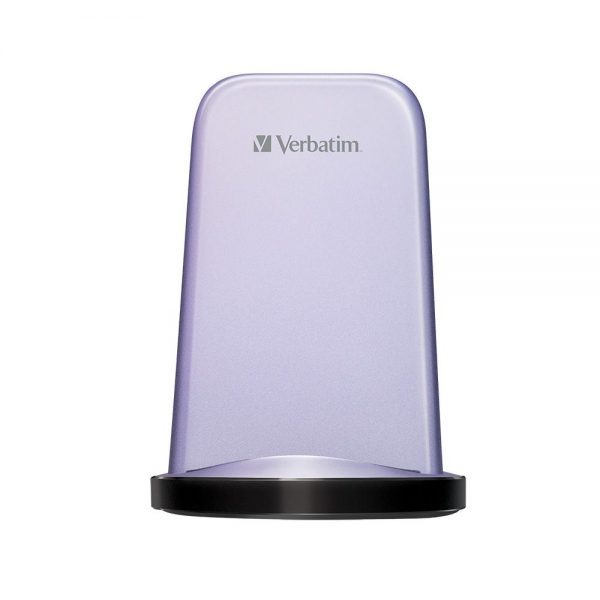 Verbatim 15W Dual Coil Wireless Charger Stand - Purple