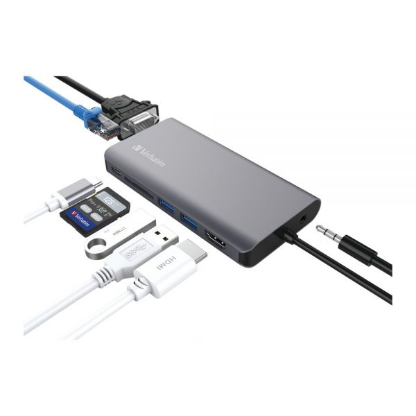 Verbatim 66148 8in1 Type C Hub With 60 Watt 66148 cg c min