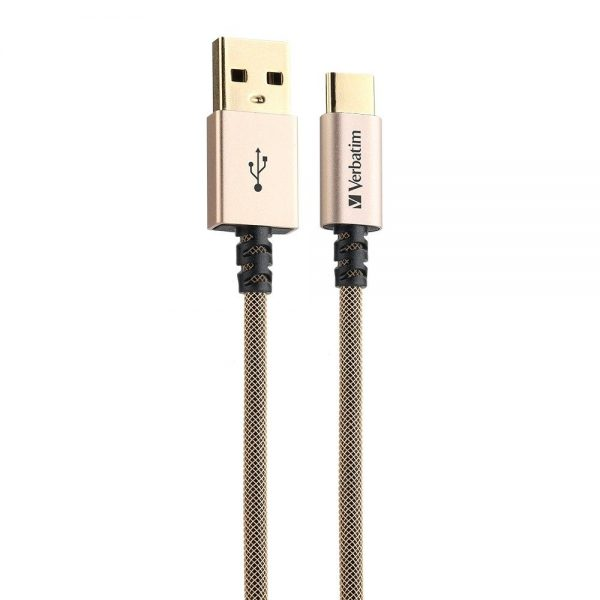 Verbatim 66153 120cm Sync & Charge USB-A to Type C Cable - Gold 66153 1