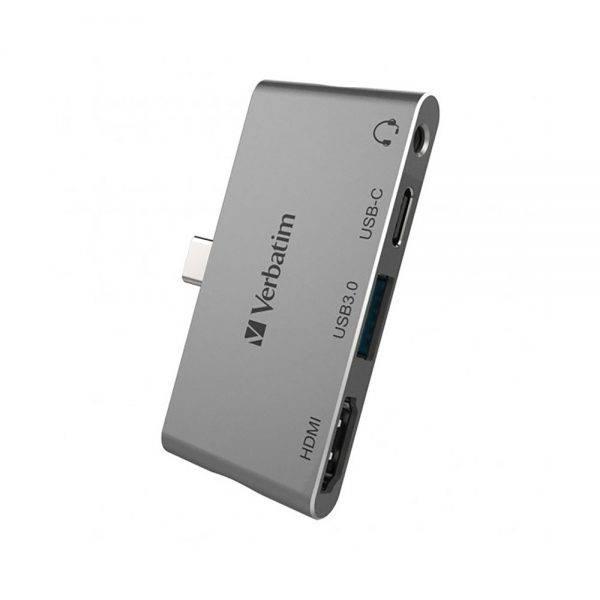 Verbatim 66347 4in1 Type C Hub/Dock Station Adapter (USB 3.0) 66347 cg a min
