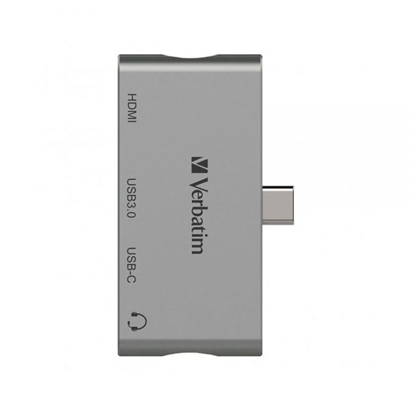 Verbatim 66347 4in1 Type C Hub/Dock Station Adapter (USB 3.0) 66347 cg b min