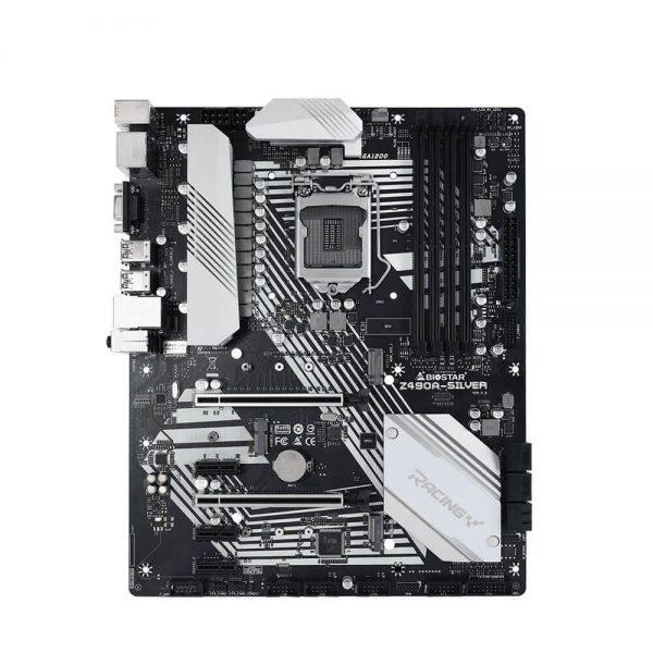 BIOSTAR RACING Z490A-SILVER LGA 1200 Intel Z490 SATA 6Gb/s ATX Intel Motherboard Z490A SILVER 1