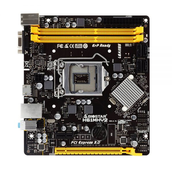 Biostar H61MHV2 Intel Socket 1155 2nd/3rd Gen Micro ATX DDR3 VGA/HDMI USB 2.0 Motherboard H61MHV2 1