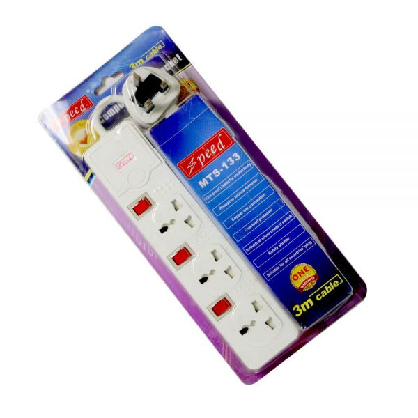 Speed Power Strip 3m 3pin 3port