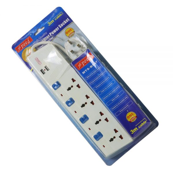Speed Power Strip 3m 4p+2usb 3pin