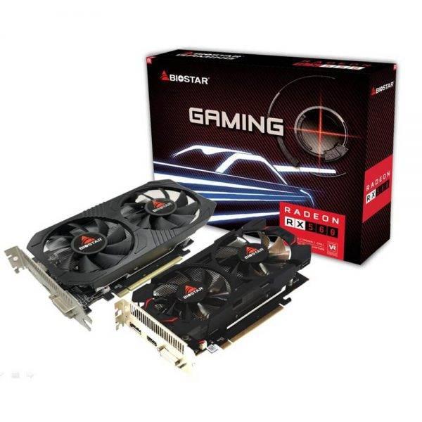 Biostar adm 4GB Dual Cooling DDR5 Graphics card RX560