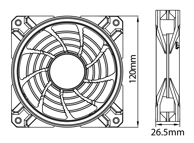 Deepcool CF120 PLUS Case Fan