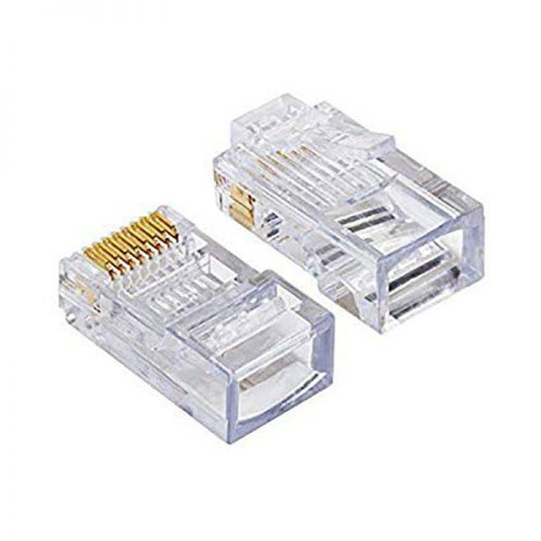 D-Link RJ-45 Cat-5/Cat-6 Connector [NPG-5E1TRA301-100] (100 Unit Per Box) RJ 45 Cable Connector 2