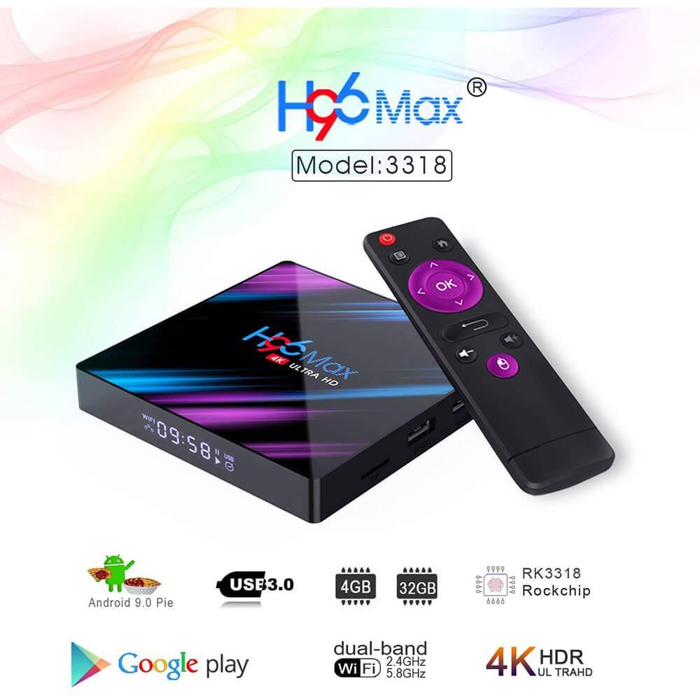 H96 MAX RK3318 Android 9.0 4GB32GB 4K TV Box 02