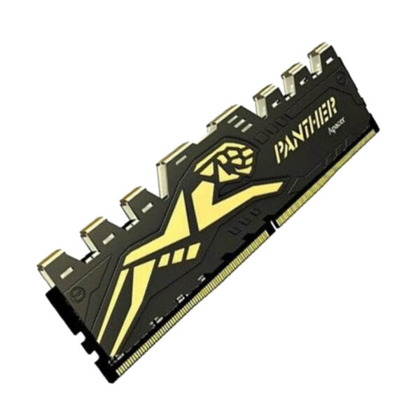 Apacer Panther Golden 8GB 3200MHz DDR4 DIMM CL16 (1x8GB) (AH4U08G32C28Y7GAA-1) AH4U08G32C28Y7GAA black goldent min