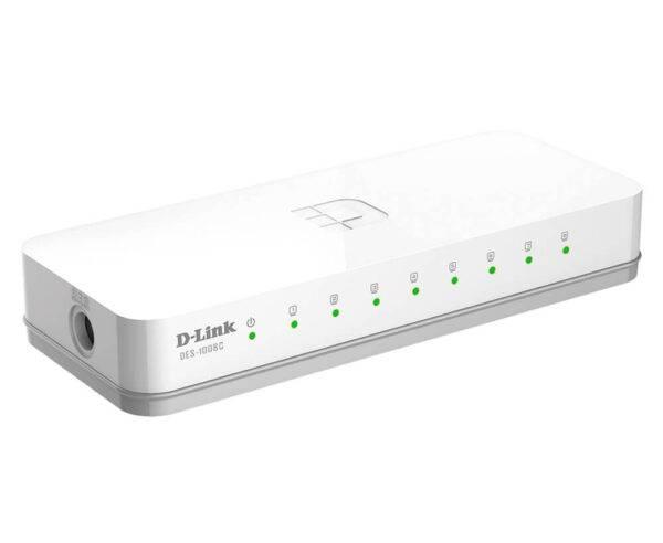 Dlink DES-1008C 8 Port 10/100 Unmanaged Switch DES 1008C Side01