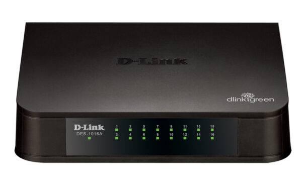 D-Link DES-1016A-16-port 10/100M Unmanaged Switch DES 1016A E1 Front