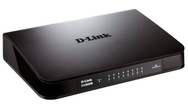 D-LINK DGS-1016A 16-Port Gigabit Unmanaged Desktop Switch DGS 1016A B1 Side